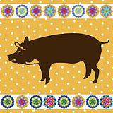 Retro pig