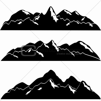 Mountains with snow