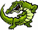 Gator or Alligator Mascot Body Vector Graphic