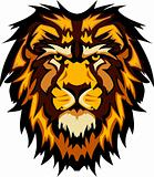 Lion Head Graphic Mascot Vector Image