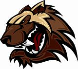 Wolverine Badger Mascot Head Vector Illustration