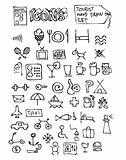 hand drawn hotel symbols