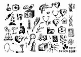 hand drawn medical symbols