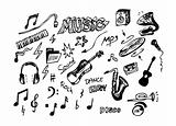 hand drawn music objects
