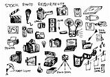 hand drawn microstock symbols 