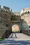 Tower gate of stone fortress  in Belgrade