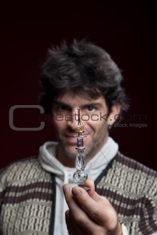 Man With Potion Bottle