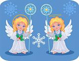 Christmas cute angels catholic, orthodox set