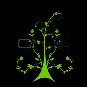 Art floral tree