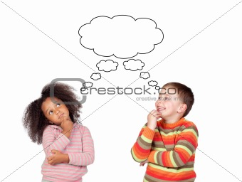 Two pensive children