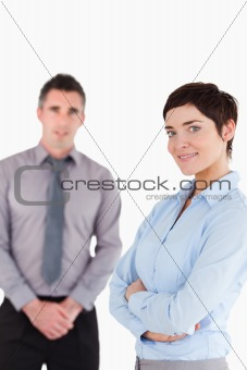 Portrait of office workers posing