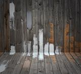 Grunge wooden floor and wall
