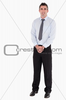 Businessman standing up
