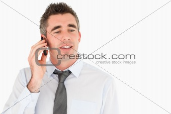 Business manager making a phone call