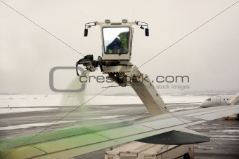 De-icing of aircraft