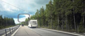caracvan on road