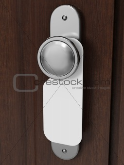 Door knob with blank label