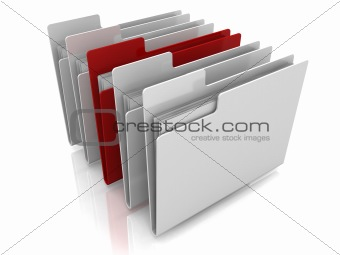 Folder icons row with one selected