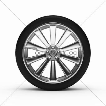 Aluminum wheel with tires