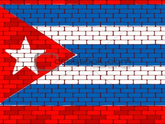 Background a flag of Cuba