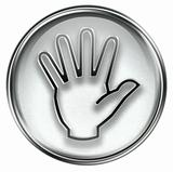 hand icon grey