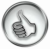 thumb up icon grey