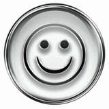 Smiley Face grey