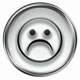Smiley Face, dissatisfied grey