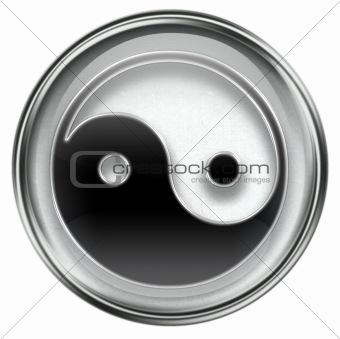yin yang symbol icon grey