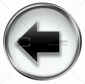 Arrow left icon grey