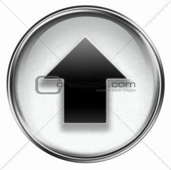 Arrow up icon grey