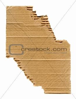 Torn cardboard