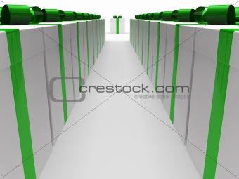 3d green gift box