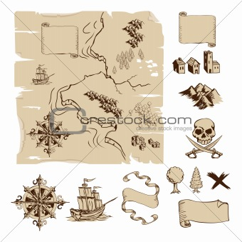 Make your own fantasy or treasure maps