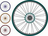 set Bike wheel - vector illustration isolated on white background