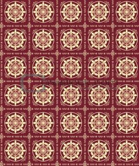 Tileable floral wallpaper