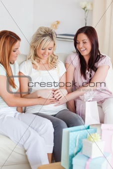 Charming Women having a baby-party