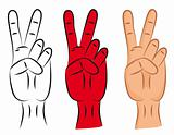 Hand - victory sign