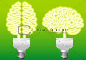 bulb brain, vector