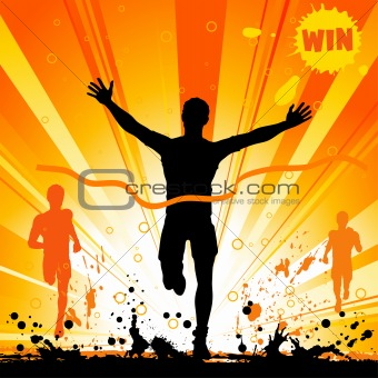 Silhouette of a Man Winner