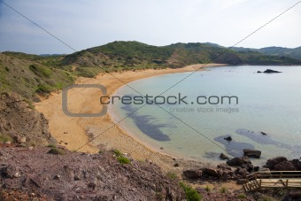 Cavalleria Beach at Menorca