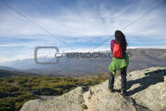 watching cloud over valley at Gredos