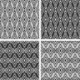 Seamless geometric patterns with rhombuses ornate.
