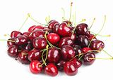 Heap of a dark-red sweet-cherry