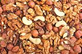 Abstract nuts background