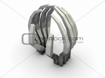 abstract hands sculpture