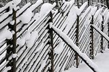 Fence Under Snow