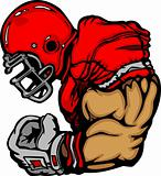 Football Player Lineman Vector Cartoon