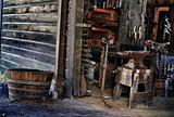 Blacksmith `s tools in shop