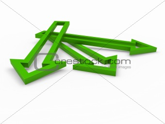 3d arrow green